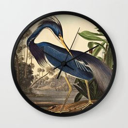John James Audubon - Louisiana Heron Wall Clock