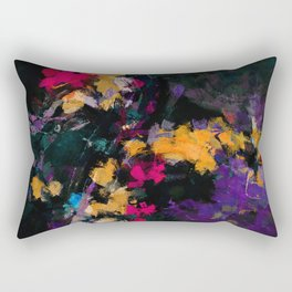 Purple and Yellow Abstract / Surrealist Painting Rectangular Pillow