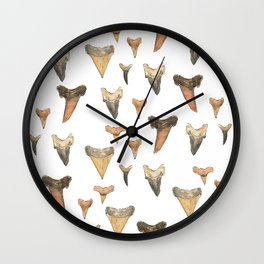 Shark Teeth Study Wall Clock