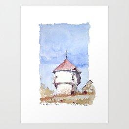 Le Petit Moulin de Batz, Rue de Beauregard Art Print