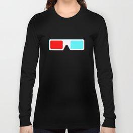 3-D Glasses Long Sleeve T-shirt