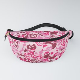Pug Camouflage Pink Fanny Pack