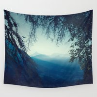 morning Wall Tapestries featuring Blue Morning by Dirk Wuestenhagen Imagery
