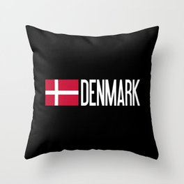 Denmark: Danish Flag & Denmark Throw Pillow