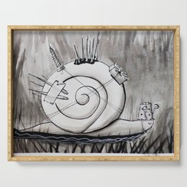 Snail Armor Serving Tray