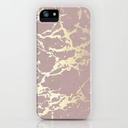 Kintsugi Ceramic Gold on Clay Pink iPhone Case