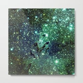 Green Eagle Nebula / Pillars of Creation Metal Print