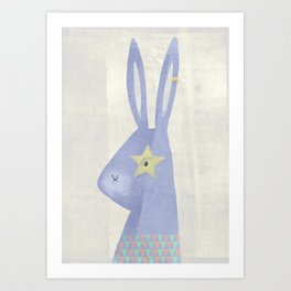 Rock Rabbit (color) Art Print