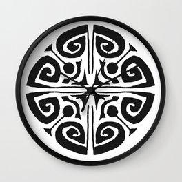 Tatouage Rond - round tatoo mandala - 3 Wall Clock