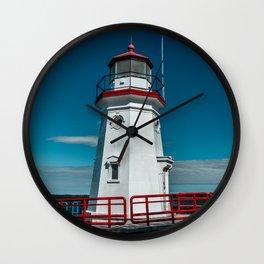 Cheboygan Crib Lighthouse Lake Huron Michigan Great Lakes Light Station Wall Clock
