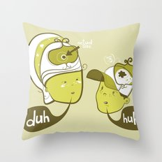 Pea Brain Patty and Bird Brain Bimmy Throw Pillow
