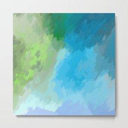 Blue grey sky Metal Print