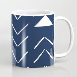 Mud Cloth Vector in Navy Coffee Mug