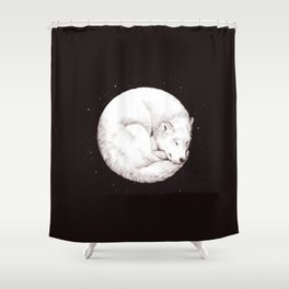 The Howl of the Moon Shower Curtain