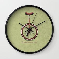Unicycle Wall Clock