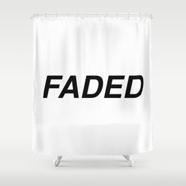 FADED Shower Curtain
