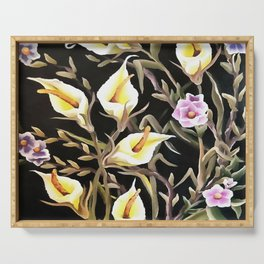 Arum Lily Artistic Floral Design Serving Tray