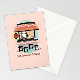 No Face Kaonashi Selling Sushi Stationery Cards