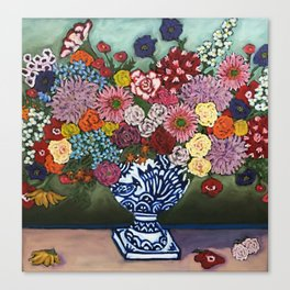Amsterdam Flowers Canvas Print