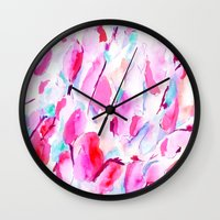 kandinsky Wall Clocks featuring Synesthete by Jacqueline Maldonado