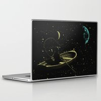 rowing Laptop & iPad Skins featuring Rowing in Sillence Art Poster by Lautstarke
