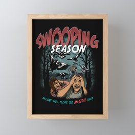 Swooping Magpie Season Framed Mini Art Print