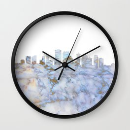 New Orleans Skyline Louisiana Wall Clock