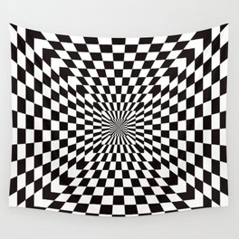 Checkered Optical Illusion Wall Tapestry