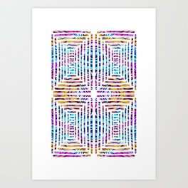 Abstract Cuts In Reflection Art Print