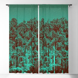 Minty Green Forest Blackout Curtain