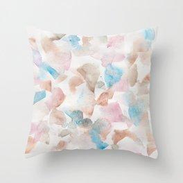 180713 Soft Pastel Watercolour| Watercolor Brush Strokes Throw Pillow