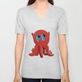 Bloop the friendly octopus Unisex V-Neck