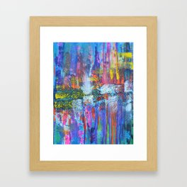 REFLECTIVE METROPOLIS - abstract expressionism prophetic art painting Framed Art Print