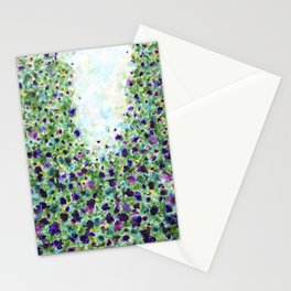 A walk through the park - Abstract Painting Stationery Cards