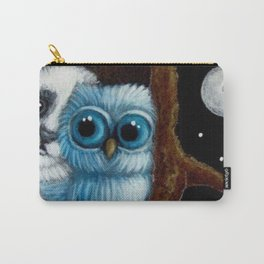 BLUE OWL...A PANDA VISIT Carry-All Pouch