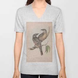 Great Bower Bird, chlamydera nuchalis3 Unisex V-Neck
