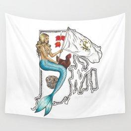 Rhode Island Mermaid Wall Tapestry