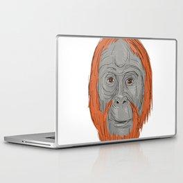 Unflanged Male Orangutan Drawing Laptop & iPad Skin