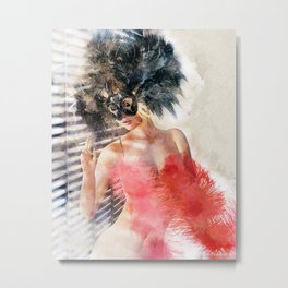 Painted Fan Dancer IV Metal Print