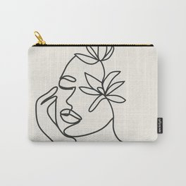 Abstract Minimal Woman I Carry-All Pouch