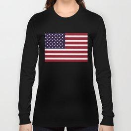 "Stars & Stripes flag, painterly ""old glory"" Long Sleeve T-shirt"