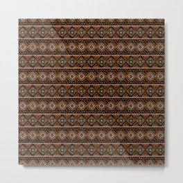 African Mud Cloth Inspired | Earth Art Metal Print