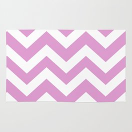 Orchid (Crayola) - violet color -  Zigzag Chevron Pattern Rug
