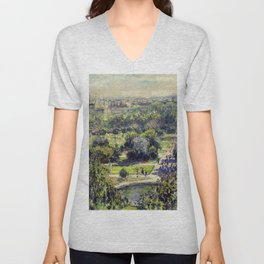 The Tuileries by Claude Monet Unisex V-Neck