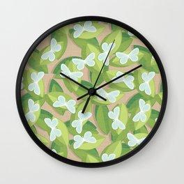 Wood White Wall Clock