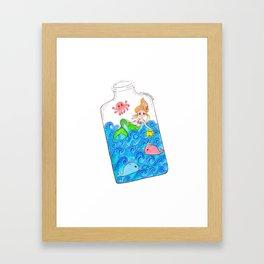 Sea in the bottle Framed Art Print