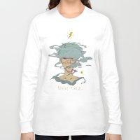 pastel goth Long Sleeve T-shirts featuring Strike Twice - lighting punk fashion anime pastel goth by Jaime Hernandez