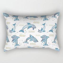 Dancing Dolphins Rectangular Pillow
