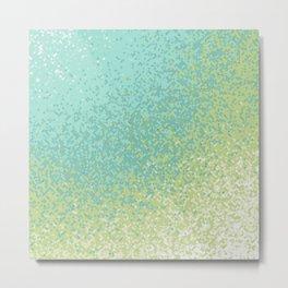 Abstract Green Blend Metal Print