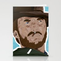 clint eastwood Stationery Cards featuring Clint Eastwood by  Steve Wade ( Swade)